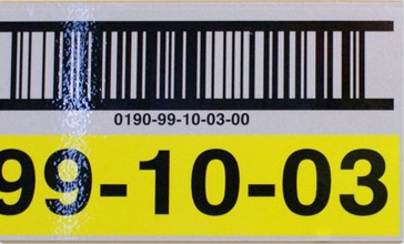 Retro-Reflective barcode Location Label