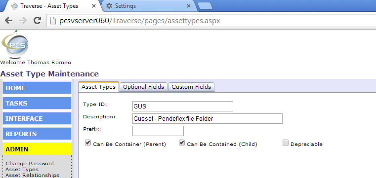 Traverse is ideal for a file tracking system.  Set up gussets (pendelex folders) to contain files.
