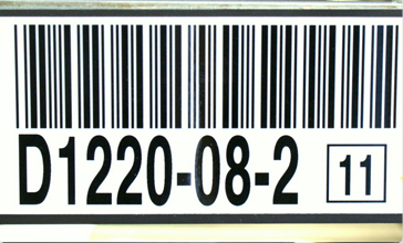 Magnetic barcode Location label